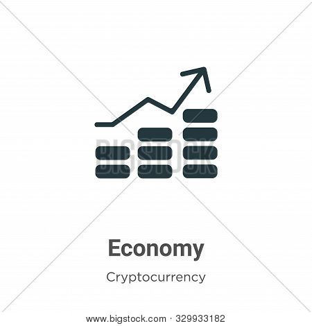 Economy icon isolated on white background from cryptocurrency collection. Economy icon trendy and mo