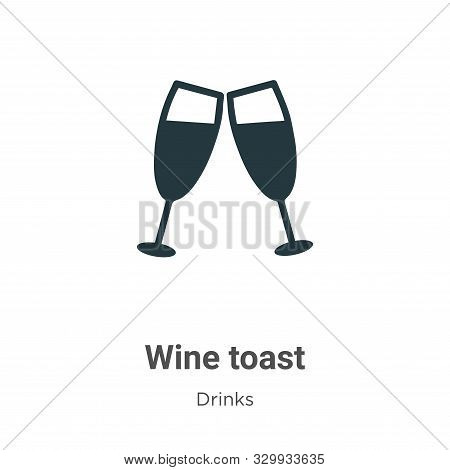Wine toast icon isolated on white background from drinks collection. Wine toast icon trendy and mode