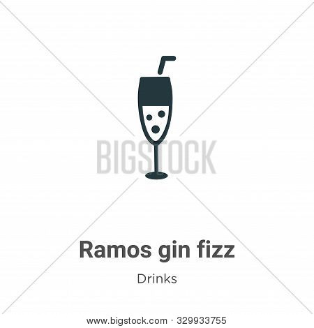 Ramos gin fizz icon isolated on white background from drinks collection. Ramos gin fizz icon trendy