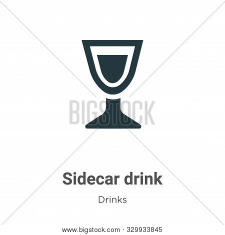Sidecar drink icon isolated on white background from drinks collection. Sidecar drink icon trendy an