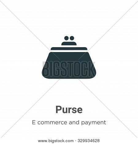 Purse icon isolated on white background from e commerce and payment collection. Purse icon trendy an