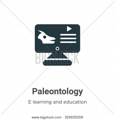 Paleontology icon isolated on white background from e learning and education collection. Paleontolog