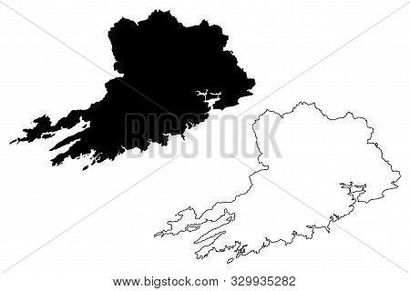 Cork County Council (republic Of Ireland, Counties Of Ireland) Map Vector Illustration, Scribble Ske