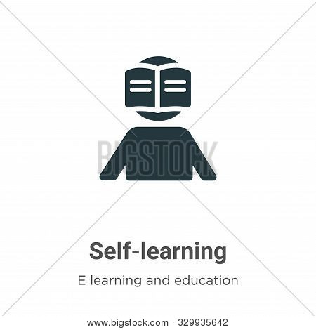Self-learning icon isolated on white background from e learning and education collection. Self-learn