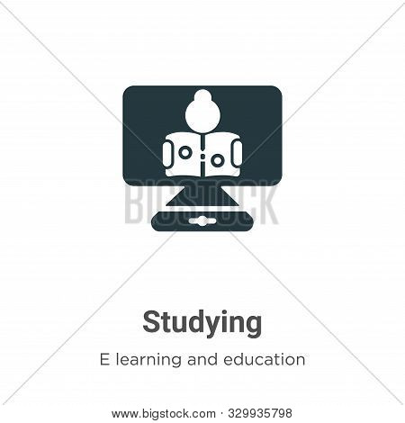 Studying icon isolated on white background from e learning and education collection. Studying icon t