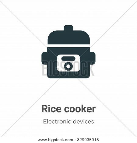 Rice cooker icon isolated on white background from electronic devices collection. Rice cooker icon t