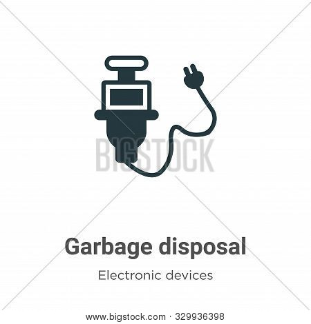 Garbage Disposal Vector Icon On White Background. Flat Vector Garbage Disposal Icon Symbol Sign From
