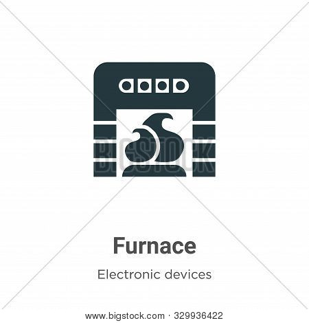 Furnace icon isolated on white background from electronic devices collection. Furnace icon trendy an