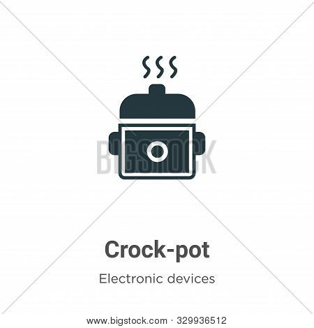 Crock-pot icon isolated on white background from electronic devices collection. Crock-pot icon trend