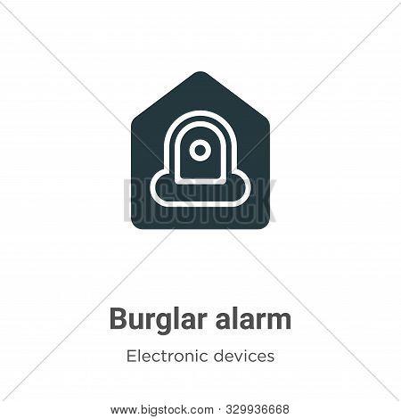 Burglar alarm icon isolated on white background from electronic devices collection. Burglar alarm ic