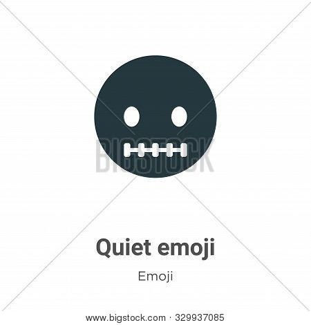 Quiet emoji icon isolated on white background from emoji collection. Quiet emoji icon trendy and mod