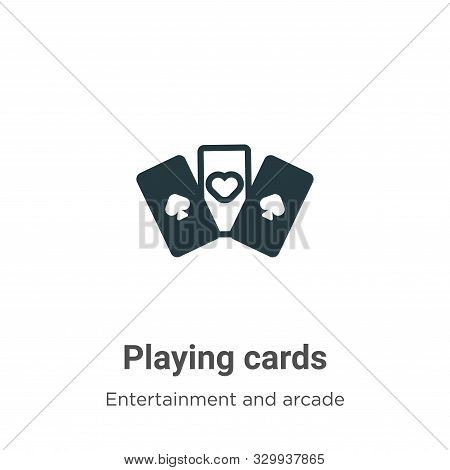 Playing cards icon isolated on white background from entertainment and arcade collection. Playing ca