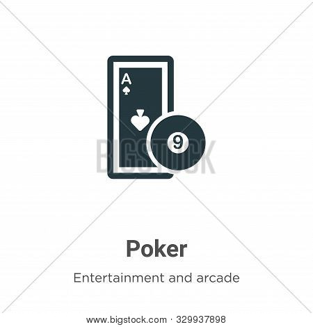 Poker icon isolated on white background from entertainment and arcade collection. Poker icon trendy