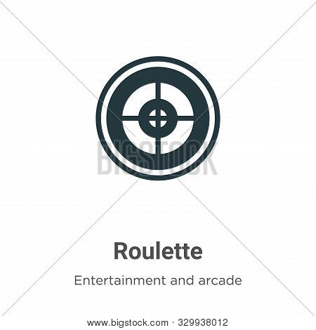 Roulette icon isolated on white background from entertainment and arcade collection. Roulette icon t