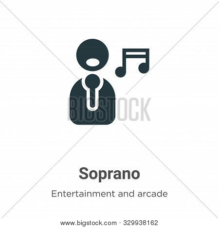 Soprano icon isolated on white background from entertainment and arcade collection. Soprano icon tre