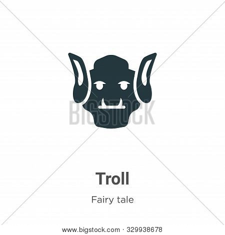 Troll icon isolated on white background from fairy tale collection. Troll icon trendy and modern Tro