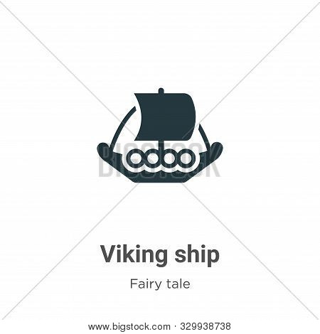 Viking ship icon isolated on white background from fairy tale collection. Viking ship icon trendy an