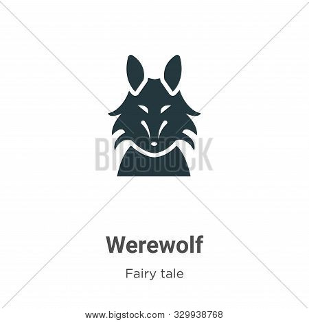 Werewolf icon isolated on white background from fairy tale collection. Werewolf icon trendy and mode