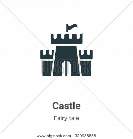 Castle icon isolated on white background from fairy tale collection. Castle icon trendy and modern C