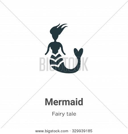 Mermaid icon isolated on white background from fairy tale collection. Mermaid icon trendy and modern