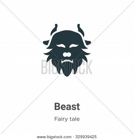 Beast icon isolated on white background from fairy tale collection. Beast icon trendy and modern Bea