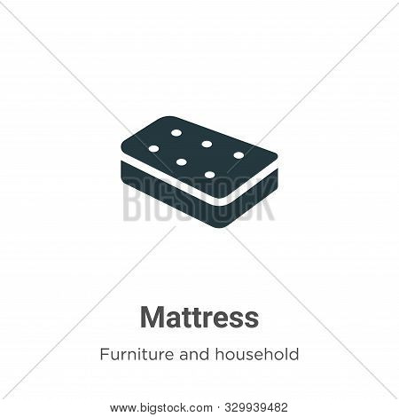 Mattress icon isolated on white background from furniture and household collection. Mattress icon tr