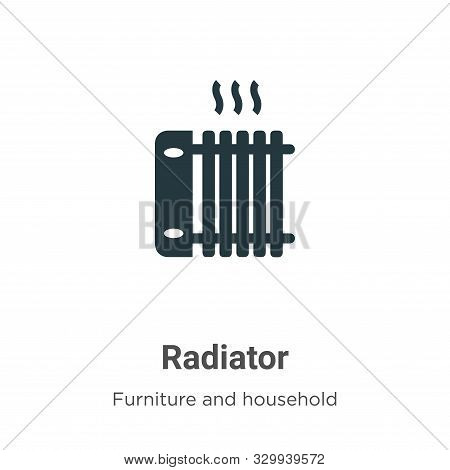 Radiator icon isolated on white background from furniture and household collection. Radiator icon tr
