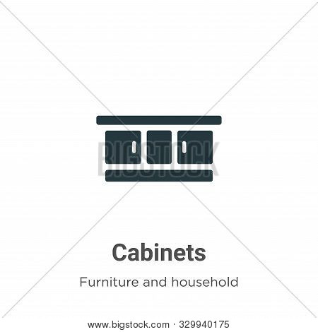 Cabinets icon isolated on white background from furniture and household collection. Cabinets icon tr