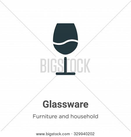 Glassware icon isolated on white background from furniture and household collection. Glassware icon