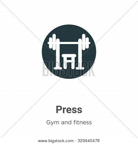 Press icon isolated on white background from gym and fitness collection. Press icon trendy and moder