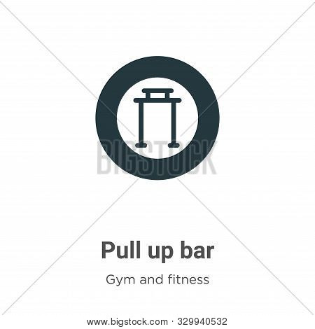 Pull up bar icon isolated on white background from gym and fitness collection. Pull up bar icon tren