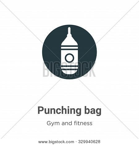 Punching bag icon isolated on white background from gym and fitness collection. Punching bag icon tr