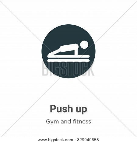Push up icon isolated on white background from gym and fitness collection. Push up icon trendy and m