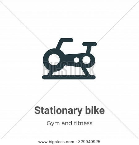 Stationary bike icon isolated on white background from gym and fitness collection. Stationary bike i