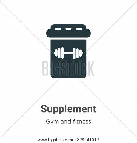 Supplement icon isolated on white background from gym and fitness collection. Supplement icon trendy