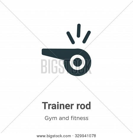Trainer rod icon isolated on white background from gym and fitness collection. Trainer rod icon tren