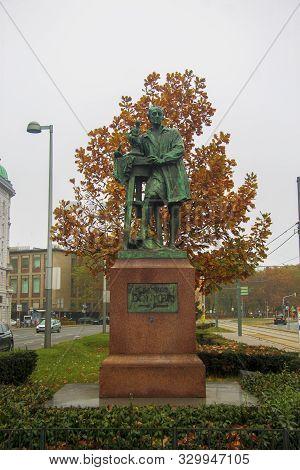 Sculpture Of Georg Raphael Donner In Vienna Austria 5 November 2018