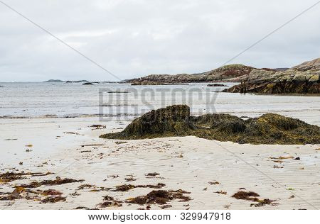 Shore At Western Point Of The Isle Of Mull, Scotland
