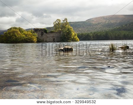 Ruin In Rothiemurchus Forest In The Cairngorms Scotland
