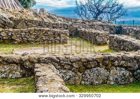 Ruins Of The Houses Inside The Walls Dated In The Iron Age In The 3rd Century Bc In The Castro Veton