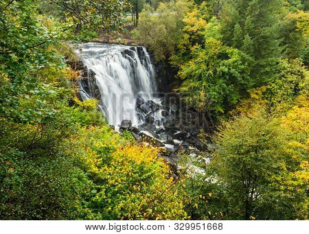 Waterfall In Aros River On The Isle Of Mull, Scotland