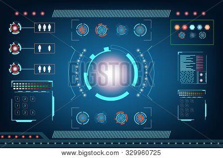 Abstract Technology Futuristic Interface. Element Digital Design Innovation Hi Tech Ai Concept Backg