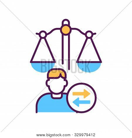 Child Custody Line Color Icon. Judiciary Concept. Separation Agreement, Adoption. Family Law.
