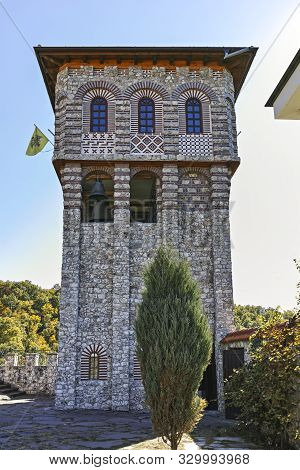 Gigintsy Monastery, Bulgaria - October 7, 2018:  Medieval Tsarnogorski (gigintsy) Monastery St. Kozm