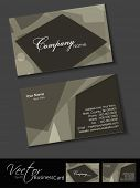 Abstract professional and designer business card template or visiting card set. EPS 10. Vector illustration. poster