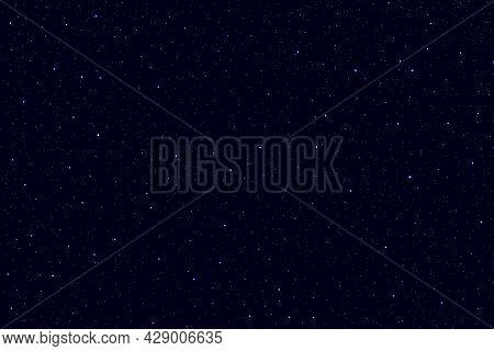 Dark Blue Night Sky Galaxy Space Background.  3d Photo Of Starry Night Sky Background.
