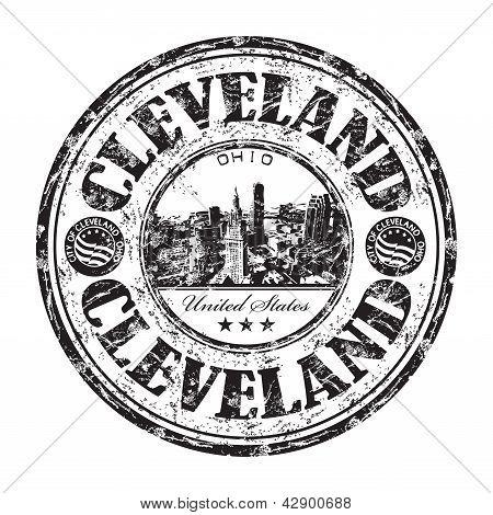 Cleveland grunge rubber stamp