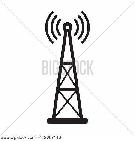 Broadcast, Transmitter Antenna Icon Vector For Your Web Design, Logo, Infographic, Ui. Illustration