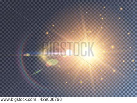 Cosmic Sun Light With Varous Light Effects