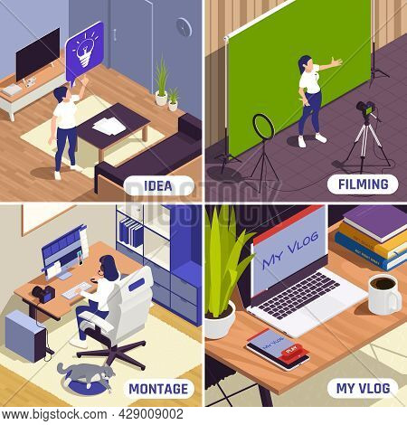 Bloggers Making Professional Looking Videos Presentations 4 Isometric Compositions With Inspiration